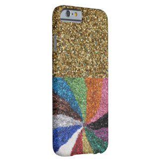 Colorful Office Boss Rainbow Design Glitter Art Barely There iPhone 6 Case