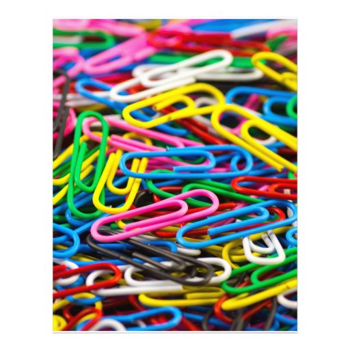 Colorful Office Paperclips Flyer