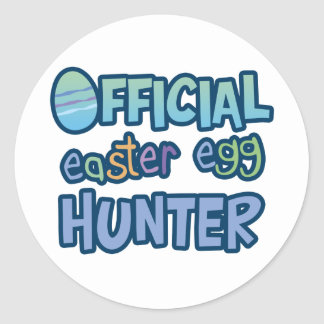 Colorful Official Easter Egg Hunter Round Stickers