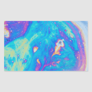 Colorful oil patterns, Canada Rectangular Sticker