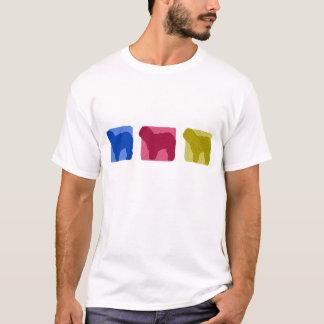 Colorful Old English Sheepdog Silhouettes TShirt