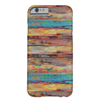 Colorful Old Painted Wood Boards Barely There iPhone 6 Case