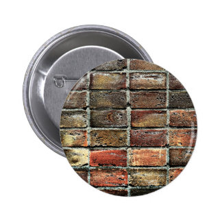 Colorful Old Weathered Stone Wall Texture 6 Cm Round Badge