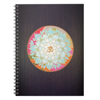 Colorful OM Lotus Yoga and Meditation Teacher Notebooks