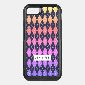 Colorful Ombre Argyle Pattern iPhone 8/7 Case