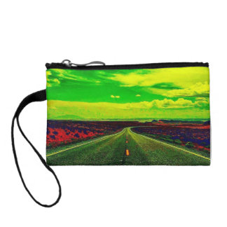 Colorful One Strange Journey Key Coin Clutch Coin Wallet