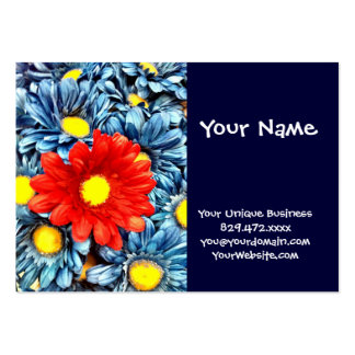 Colorful Orange Red Blue Gerber Daisies Flowers Pack Of Chubby Business Cards