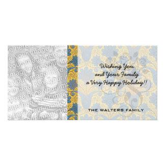 colorful ornate damask.ai photo greeting card