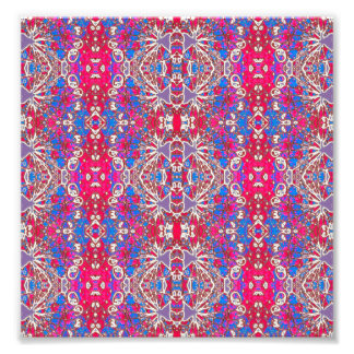 Colorful Ornate Decorative Pattern Photo Art