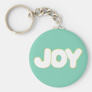 Colorful Outline Art - Joy - word keychain