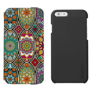 Colorful oval various mandalas floral pattern incipio watson™ iPhone 6 wallet case