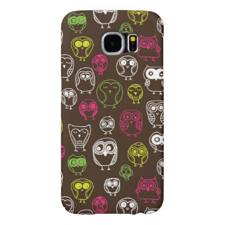 Colorful owl doodle background pattern samsung galaxy s6 cases