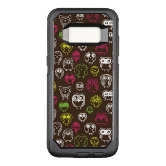 Colorful owl doodle background pattern OtterBox commuter samsung galaxy s8 case