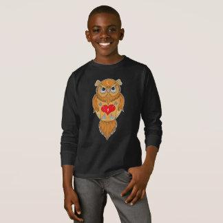 Colorful Owl Illustration T-Shirt
