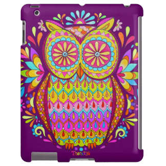 Colorful Owl iPad 2/3/4 Case - Barely There Case
