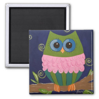 Colorful Owl Magnet