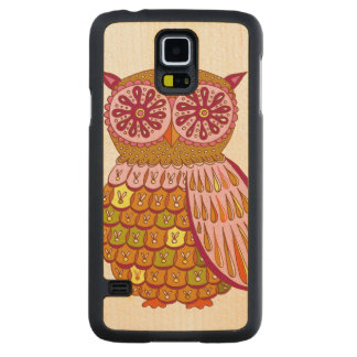 Colorful Owl Maple Galaxy S5 Slim Case