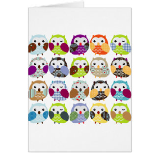 Colorful Owl Pattern Cards