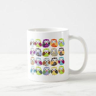 Colorful Owl Pattern Coffee Mugs