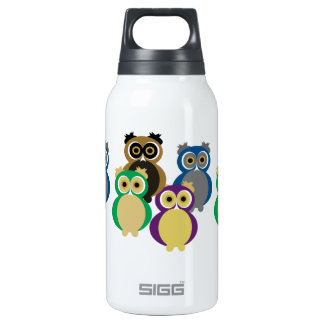Colorful Owls Insulated Water Bottle
