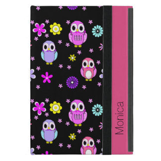 Colorful Owls Personalized iPad Mini Folio Case
