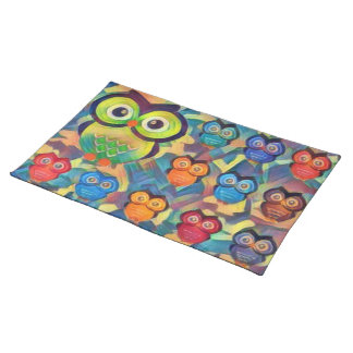 Colorful Owls Placemat