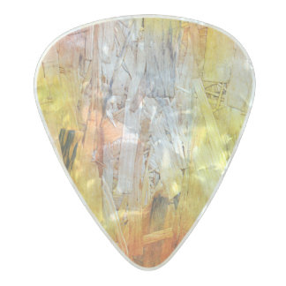 Colorful Paint Abstract design Pearl Celluloid Guitar Pick