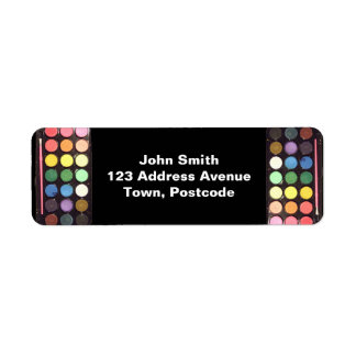 Colorful Paint Box Rainbow Return Address Label