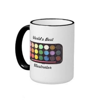 Colorful Paint Box Rainbow Ringer Mug
