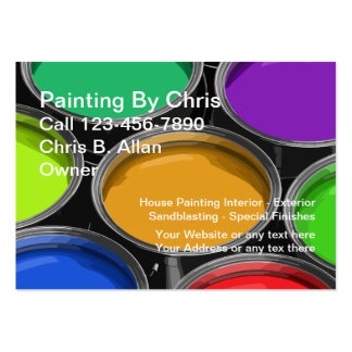 Colorful Paint Cans Painter Business Cards