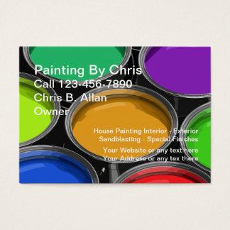 Colorful Paint Cans Painter Business Cards