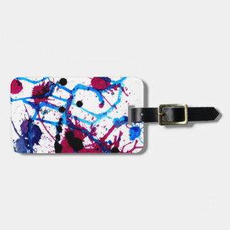Colorful Paint Drips 12 Luggage Tag