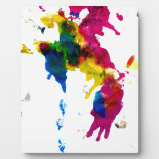 Colorful Paint Drips 2 Display Plaque