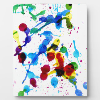Colorful Paint Drips 4 Display Plaque