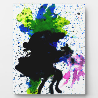 Colorful Paint Drips 5 Display Plaque