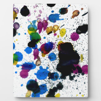 Colorful Paint Drips Photo Plaque