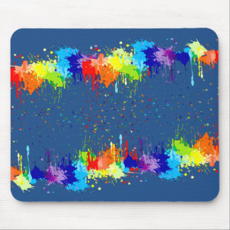 COLORFUL PAINT MOUSE PAD