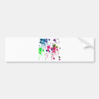 Colorful paint splatter bumper stickers