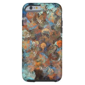 Colorful paint splatter illustration tough iPhone 6 case