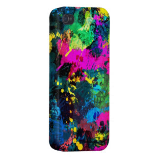 colorful paint splatter cases for iPhone 4