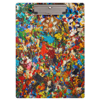 Colorful Paint Splatter Photo Clipboard