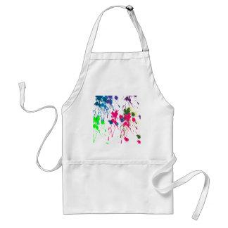 Colorful paint splatter standard apron