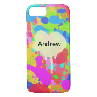 Colorful paint stains iPhone 8/7 case