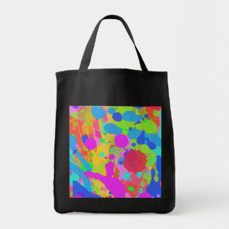Colorful paint stains tote bag