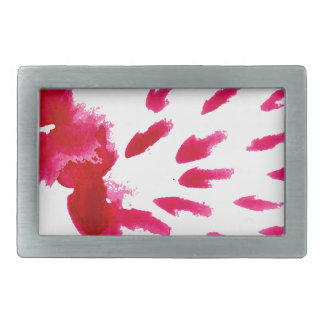 Colorful Paint Stroke pink Rectangular Belt Buckle