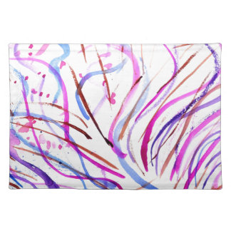 Colorful Paint Strokes 4 Placemat