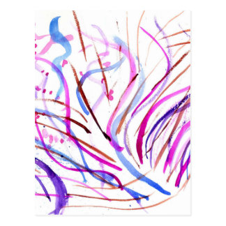 Colorful Paint Strokes 4 Postcard