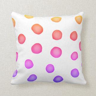 colorful painted dots pillow original  design