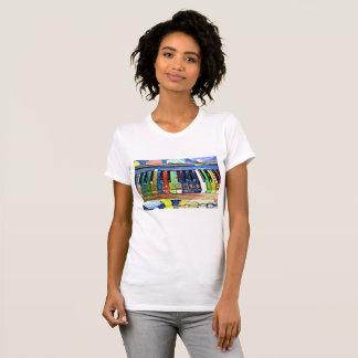 Colorful Painted Piano Keys Artsy Music Shirt