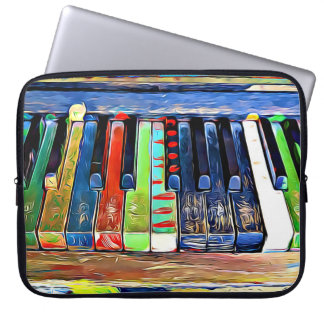 Colorful Painted Piano Keys Artsy Music Tote Bag
